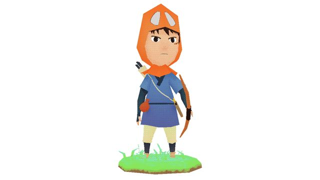 cakecubed:  Low poly of Ashitaka from Princess Mononoke for the Ghibli Jam! Check it out on SketchFab here!  SOOOO Cute! This is what i'm talking about!!!