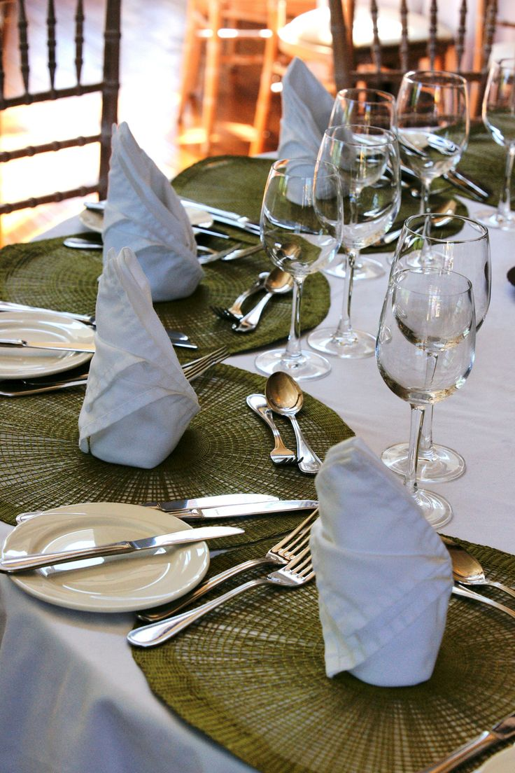 Wedding dinner table set up, Ballinacurra House