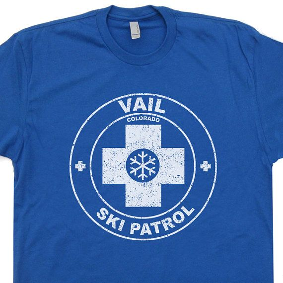 Vail Ski Patrol T Shirt Colorado Snow vintage soft by Shirtmandude