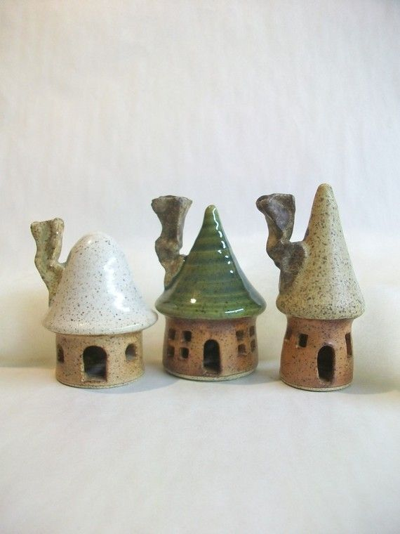 tiny fairy homes! I want to make some of these for my garden!!