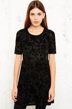 Staring at Stars Velvet Burnout Babydoll Dress at Urban Outfitters