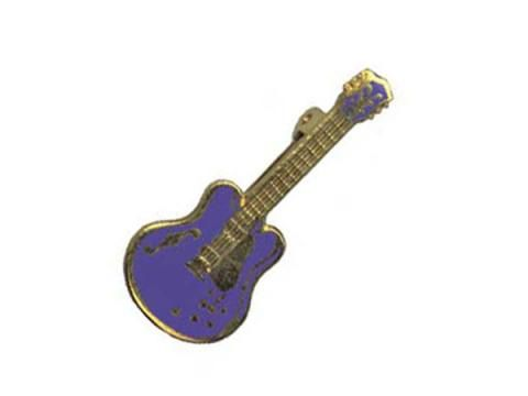 Brooch - Semi-Acoustic Guitar - BC Wholesalers.     Brooch featuring a Enamelled Semi Acoustic Guitar. Made in England