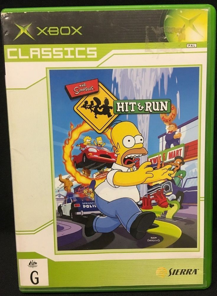 XBox Game The Simpsons Hit And Run