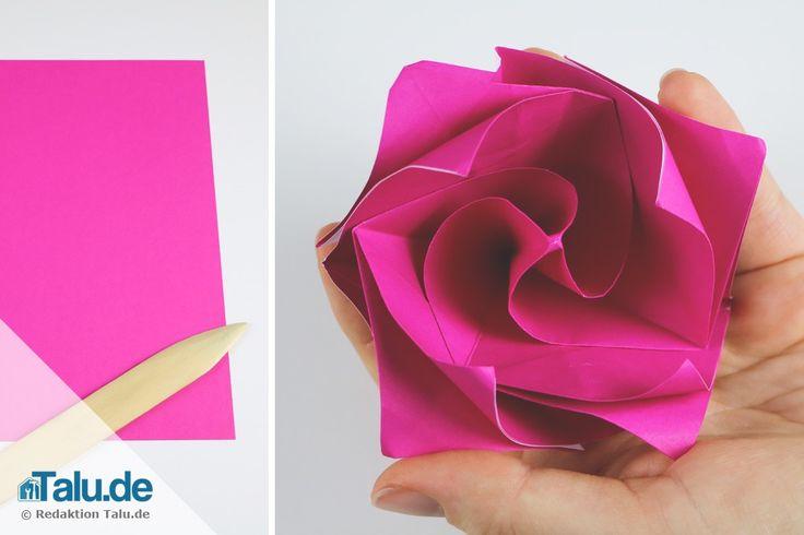 die besten 25 origami rose ideen auf pinterest origami. Black Bedroom Furniture Sets. Home Design Ideas