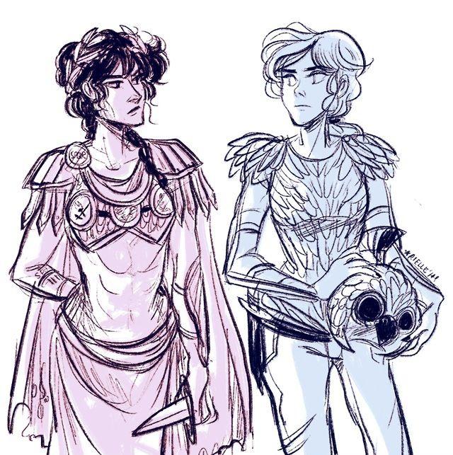 Reyna and Annabeth Chase