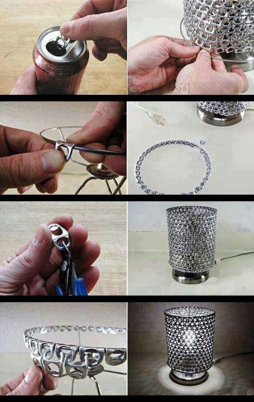Déco : Transformez les languettes des canettes en une lampe : Tunisie : LIFE : Maison et Déco Tuniscope