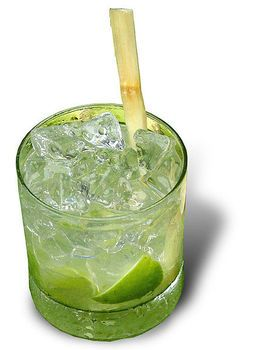 "Caipirinha a brazilian wedding cocktail. It is made of line and sugar. The word caipirinha is a diminutive of ""caipira"", which means a ""person coming from the countryside"".The ""cachaça"" is a beverage made of sugar cane."