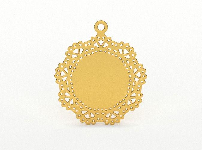 Design for pendant/earring - SK0030B by vanca - 3D printed jewelry - bizhuteri