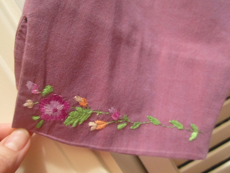 Embroidered sleeves