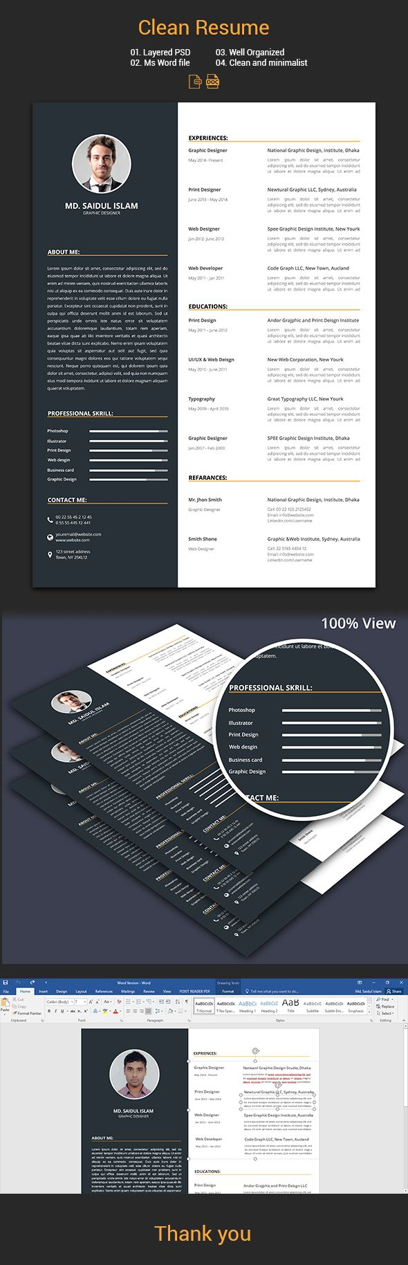 Clean Resume CV 2017 9 best