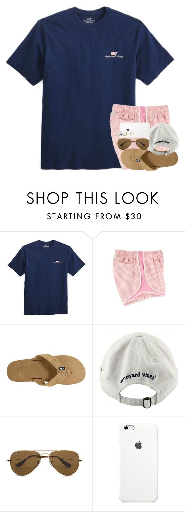 """""""I still don't get Interstellar."""" by kate-elizabethh ❤ liked on Polyvore featuring Vineyard Vines, Ray-Ban and Honora"""
