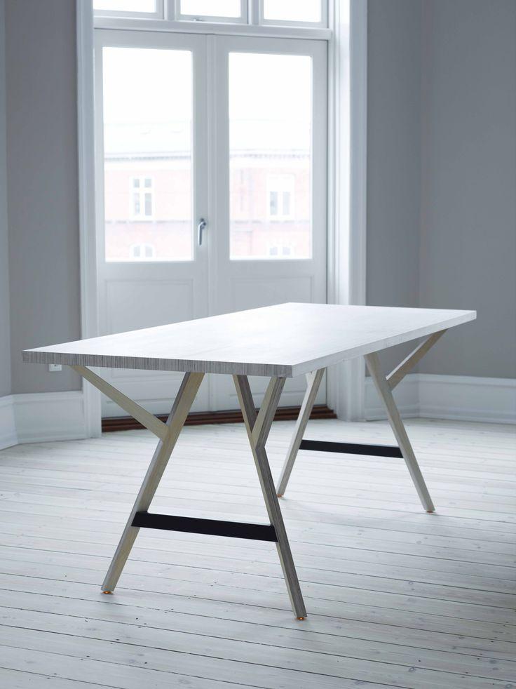 Y bord / y table spisebord i hvidolieret birkefinér #indretning ...
