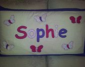 Personalised hand embroidered pillow case by EmbroideredGiftsOz