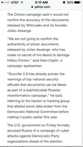 Hillary Clinton Campaign Manager: We Should Put Out Credible Leaks as Decoys to Detract from the Truth |