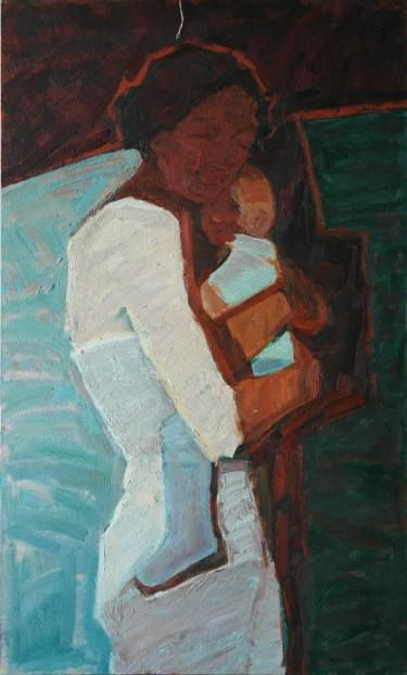 "Saatchi Art Artist Svetlana Shebarshina; Painting, ""Motherhood"" #art"