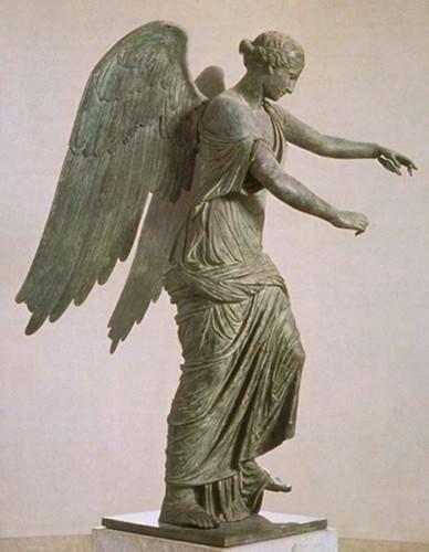 Bronze winged Victory, 2nd century CE. Santa Giulia Museum, Italy.