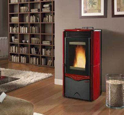 Wood Pellet Stoves (Stovesonline) - this is our beautiful Pellet boiler