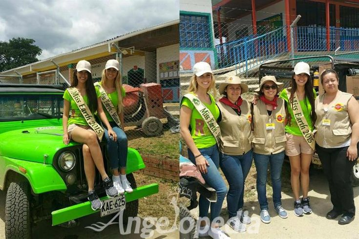 Miss Earth 2015 Angelia Gabrena Ong is in Colombia
