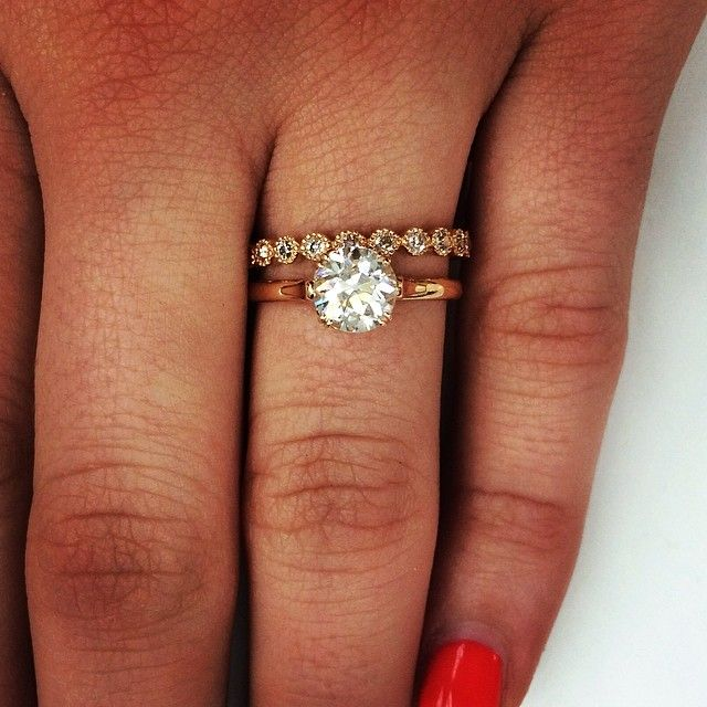 Simple, classy and elegant rose gold stack! @singlestonemissionstreet