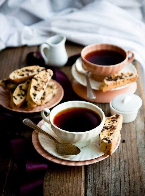 coffee with a biscotti