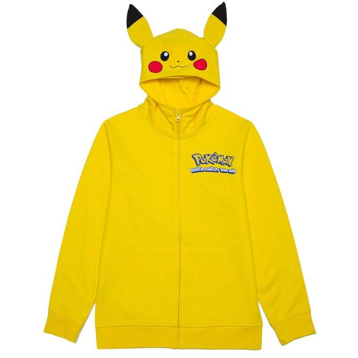 Boys 8-20 Pokemon Pikachu Hoodie, Size:
