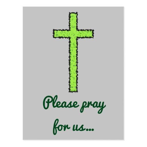 Prayer Request + Weathered Green Christian Cross