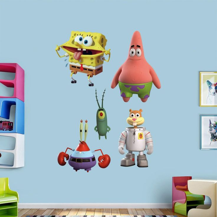 Best Spongebob DIY Bedroom Images On Pinterest Diy Bedroom - Spongebob room decals