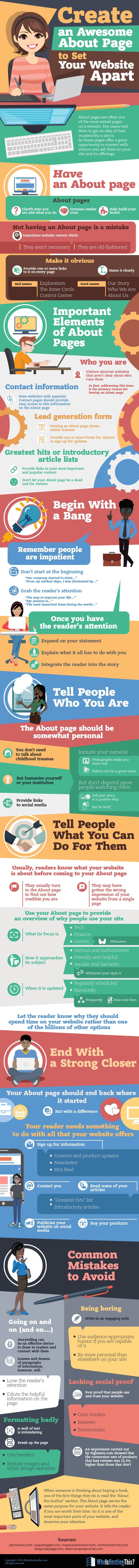 Make Your Website Stand Out! 30 Dos & Don'ts for Your About Page #Infographic #WebDesign
