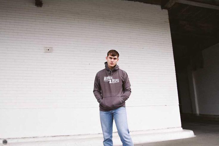 Alex Wearing our sweet Baseball Logo Hoodie - £39.95 plus free P+P