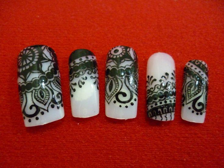Henna Mehndi Nail Art : Best mehendi pattern images nail design