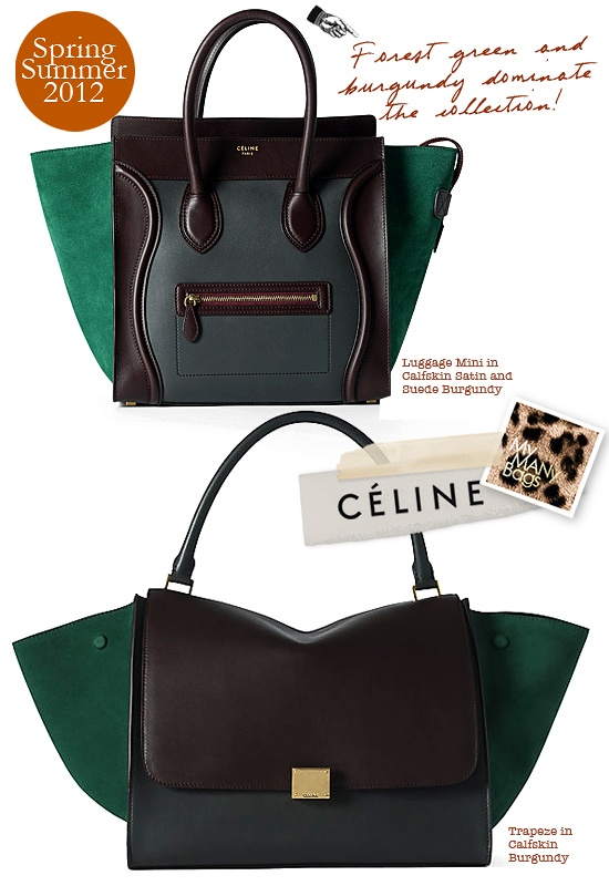 C¨¦line emerald green and burgundy Trapeze bag \u0026lt;3 \u0026lt;3 \u0026lt;3 | mama\u0026#39;s ...
