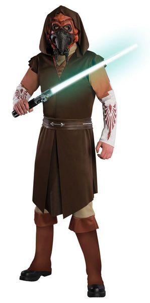 Naamiaisasu; Plo Koon Deluxe  Lisensoitu Star Wars Plo Koon Deluxe asu standardikokoisena. Olkoon voima kanssasi. #naamiaismaailma