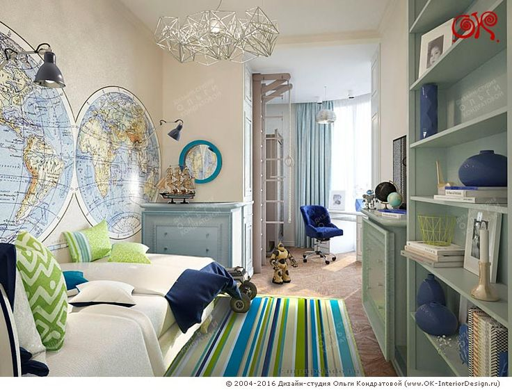 Дизайн детской комнаты для подростка http://www.ok-interiordesign.ru/wp-content/gallery/nurseries-3d/dizayn-detskoy-dlya-malchika-1.jpg