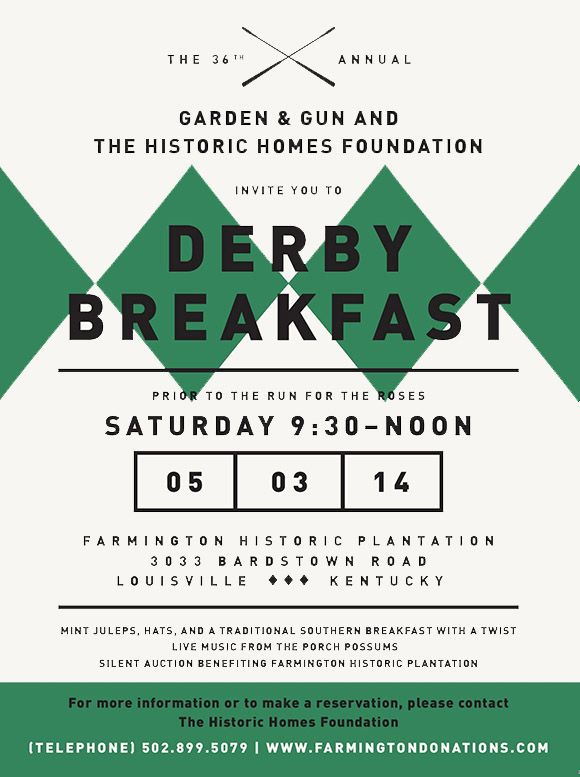 Original Makers Club x Derby Breakfast