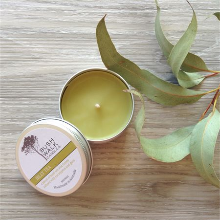 Billy Tea - Beeswax - Bush Tin Candle. All natural Australian bees wax and natural essential oils