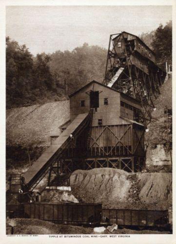 Gary, West Virginia  Coal Mine Tipple, 1918.
