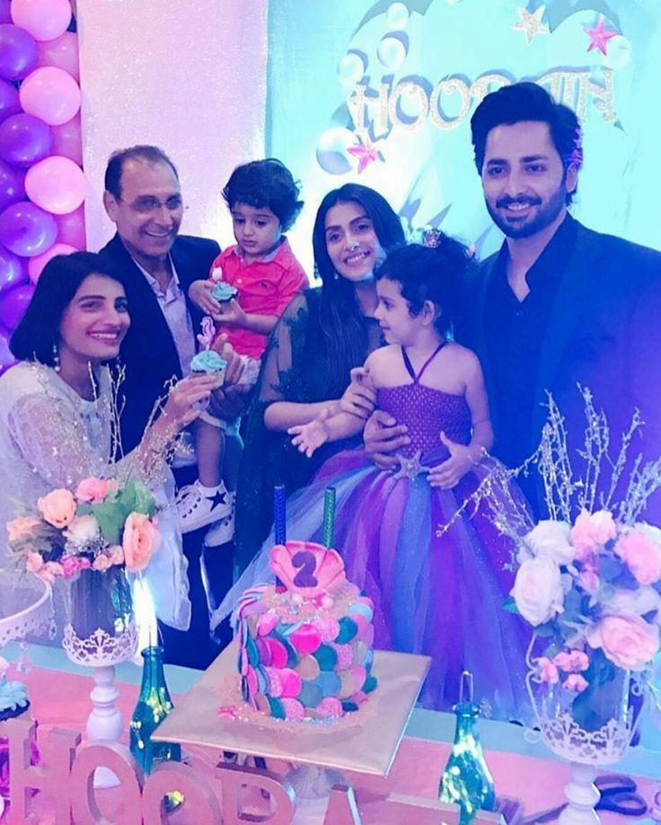 Ayeza Khan and Danish Taimoor are one happy couple at their daughter Hoorain's 2nd birthday party! ❤ #Beautiful #Couple #AyezaKhan #DanishTaimoor #BabyHoorain #BirthdayCelebration #Party #PakistaniActresses #PakistaniCelebrities
