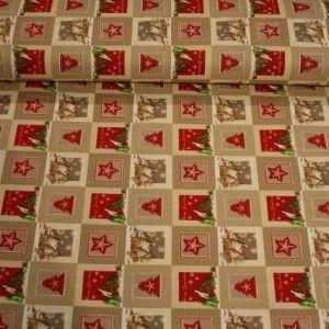 http://www.radicifabbrica.it/prodotto/tovagliato-natale-h-cm-280-var-2/ Tessuto per tovaglie con fantasia di Natale con fondo panna e beige e disegni stella, baita e alberello color rosso. tessuto: drill 100% cotone. altezza tessuto: cm 280 il prezzo di Euro 10.00 si intende al metro lineare. Lavabile in lavatrice a 30°