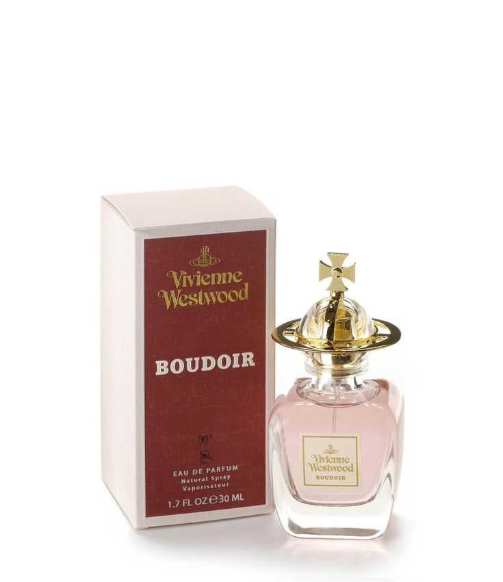 """Boudoir Eau de Parfum 30ml / perfume by Vivienne Westwood / """"Vivienne Westwood's first fragrance, Boudoir was launched in 1998. The heart of the fragrance has accords of red English roses that produce an extremely feminine floral note. transporting you to a traditional English Country Garden with evening scents of tobacco flowers and heliotrope. With top accord vibernum combined with notes of bergamot and mandarine."""""""