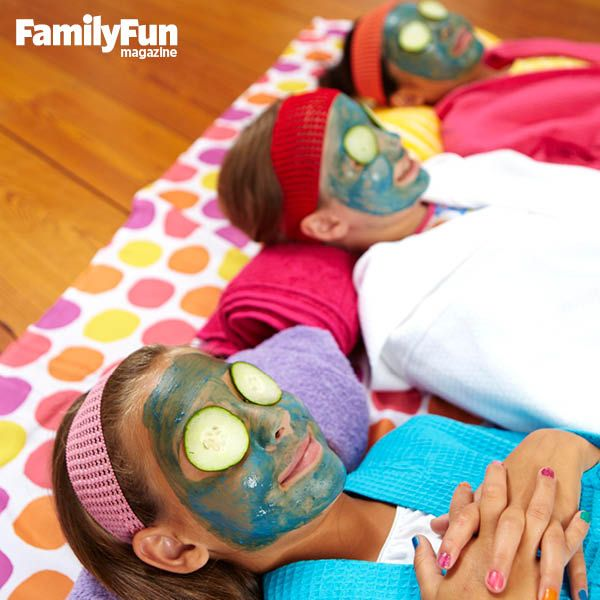 Facial Station: Set out individual bowls of our Honey Banana Mask and small unused paintbrushes. After the guests have painted the mask on each other's faces, they can chill out with rolled towels under their heads and some relaxing tunes. Place cool cucumber slices over their eyes for extra soothing.