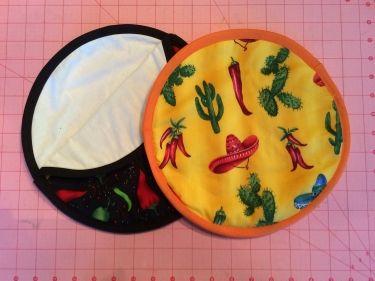 Tortilleros   Tortilla microwave warmer #LetsSew #sewing