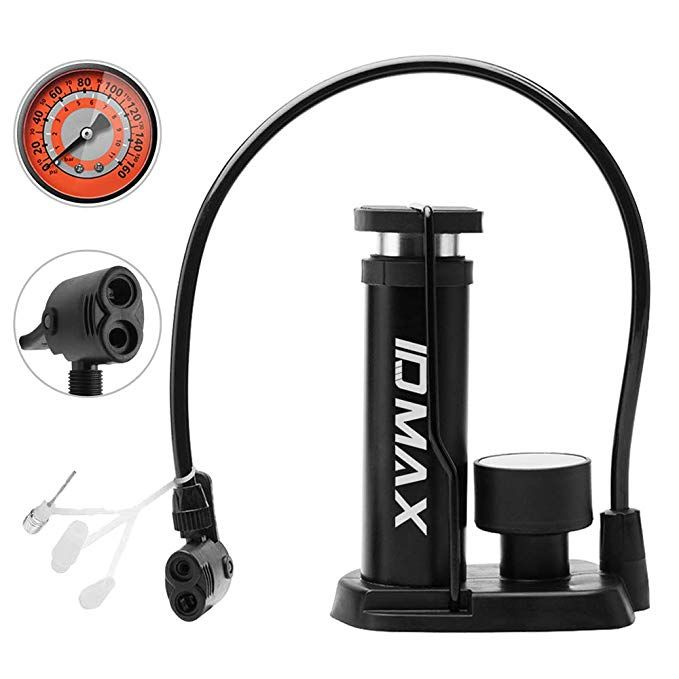 Id Max Bike Pump Portable Mini Bicycle Tire Pump Foot Activated