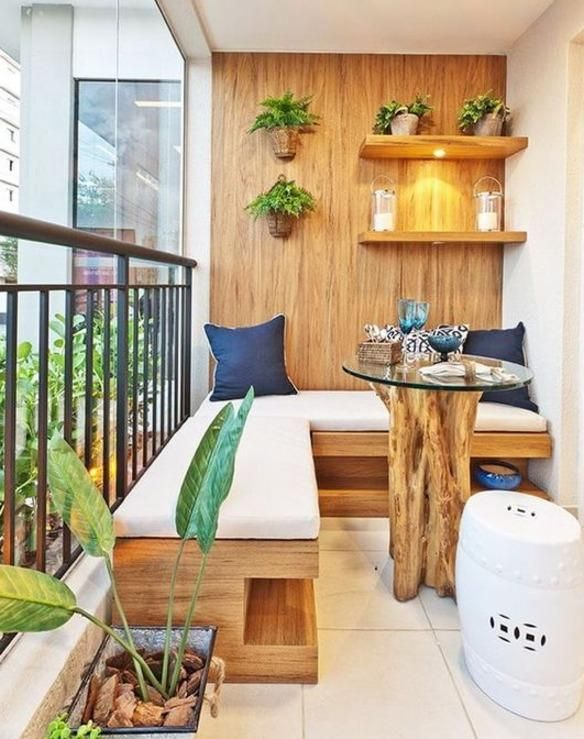 A small balcony is very common these days. Here are 10 small balcony ideas to help you decorate your balcony and create a comfortable place for yourself. Small Balcony Design, Small Balcony Garden, Small Balcony Decor, Terrace Design, Balcony Ideas, Small Balcony Furniture, Garden Design, Small Terrace, Balcony Decoration