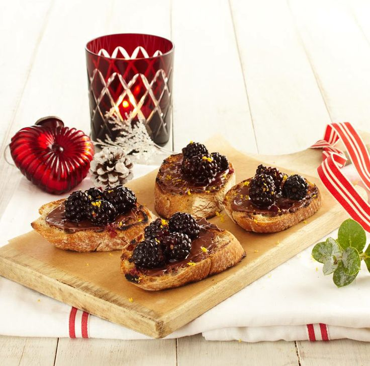 Nutella and Blackberry Bruschetta.