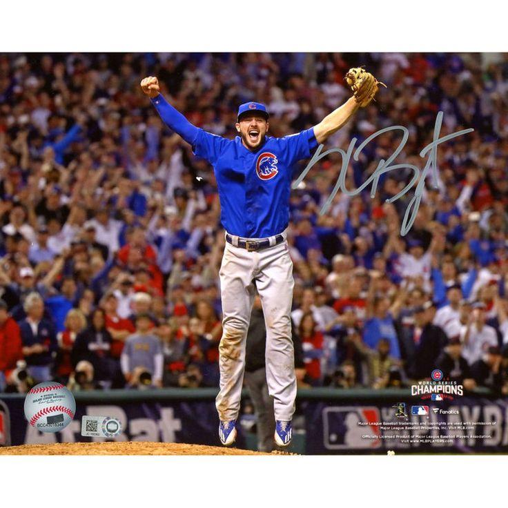 "Kris Bryant Chicago Cubs Fanatics Authentic Autographed 8"" x 10"" 2016 MLB World Series Champions Last Out Photograph"