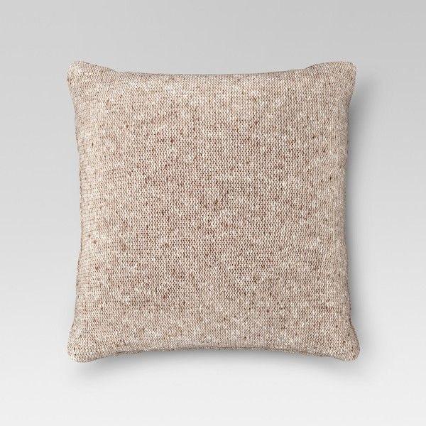 Sweaterknit Oversized Throw Pillow - Threshold™ : Target ($35) via Polyvore featuring home, home decor, throw pillows, oversized throw pillows, target accent pillows, target toss pillows, target home decor and target throw pillows