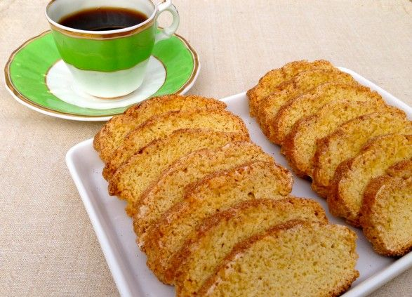Snickerdoodle Biscotti -- low-fat recipe with perfect texture and taste