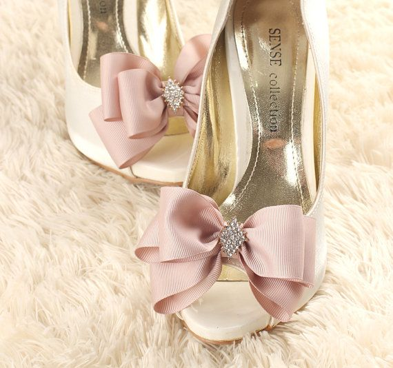 wedding shoe clip bridal shoe clip bow shoe clips by GadaByGrace