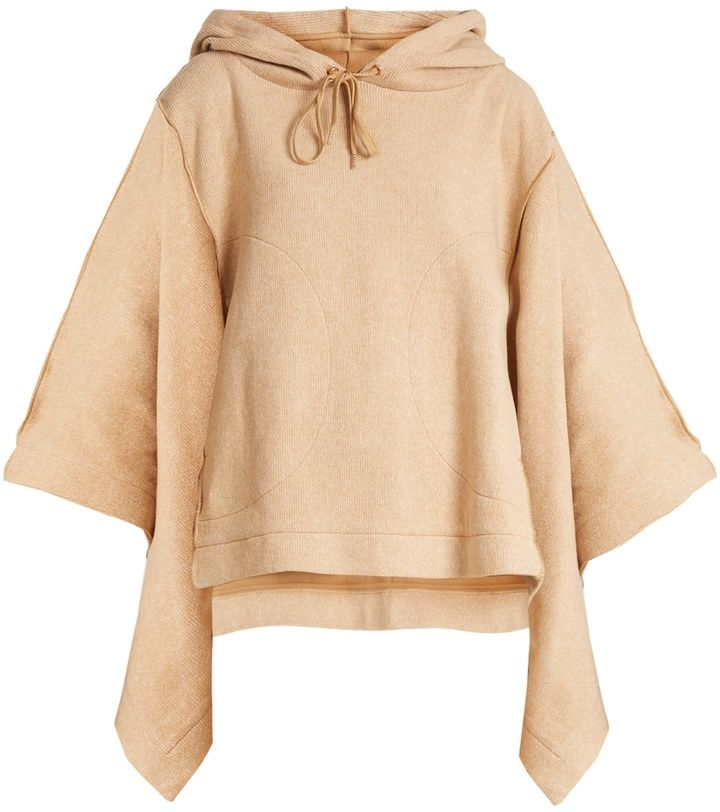 See by Chloe Hooded cotton-blend poncho