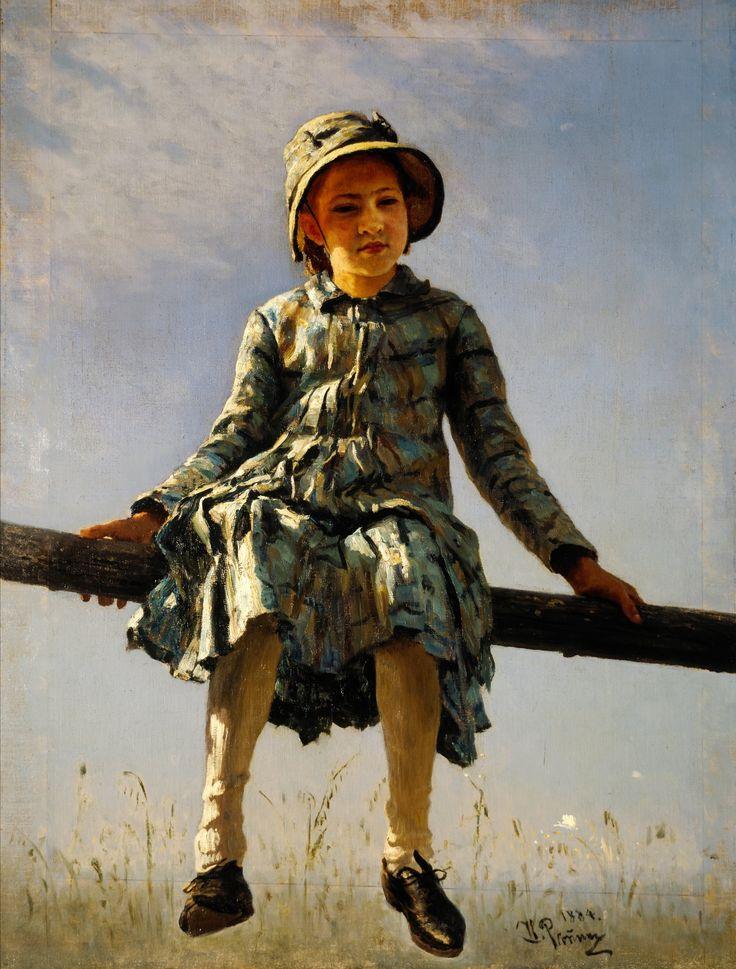 Илья Ефимович Репин: Стрекоза (Портрет дочери художника) 1884.